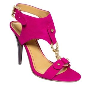 New NINE WEST Bezel fuchsia Sandals